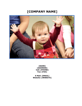 Preschool Business Plan template